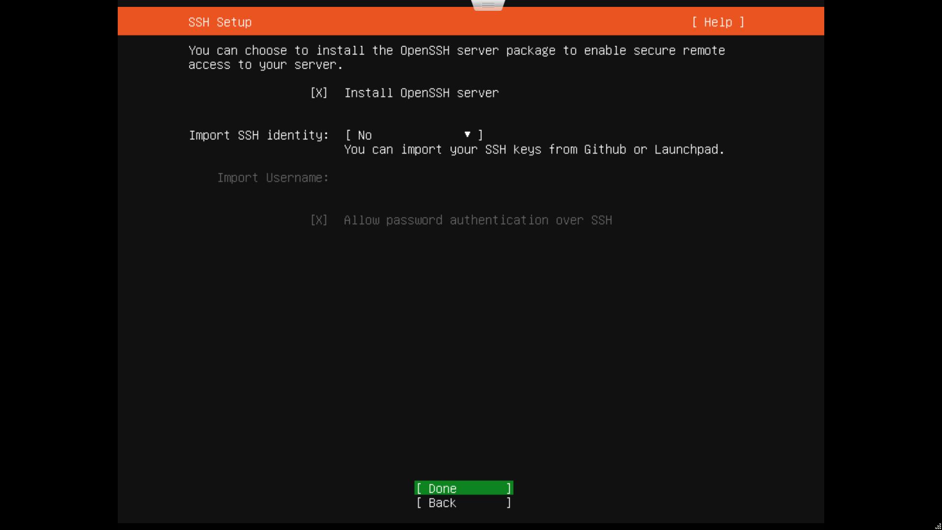 تنظیمات SSH