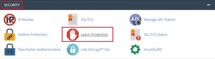 افزایش امنیت پوشه ها Leech Protection