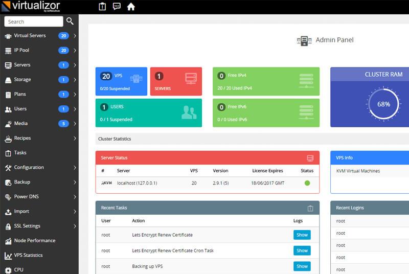 نصب مجازی ساز KVM virtualizor CentOS 7